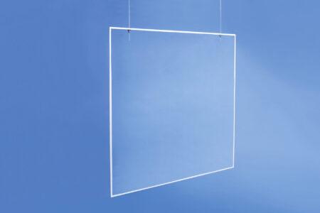 Transparente Hygienewand hängend